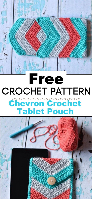 Chevron Crochet Tablet Pouch Free Crochet Pattern