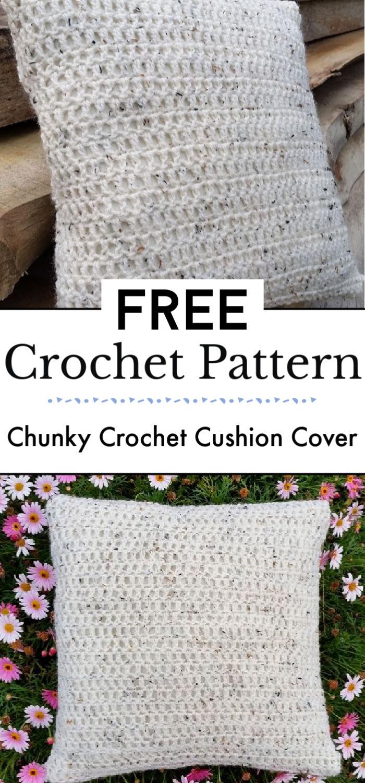Chunky Crochet Cushion Cover
