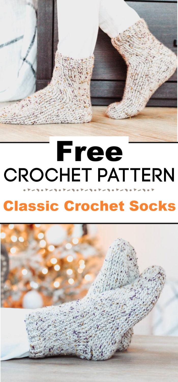 Classic Crochet Socks Free Crochet Pattern