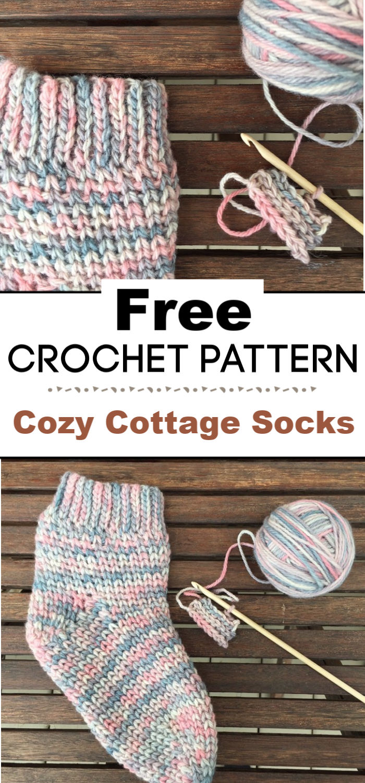 Cozy Cottage Socks A Free Crochet Pattern