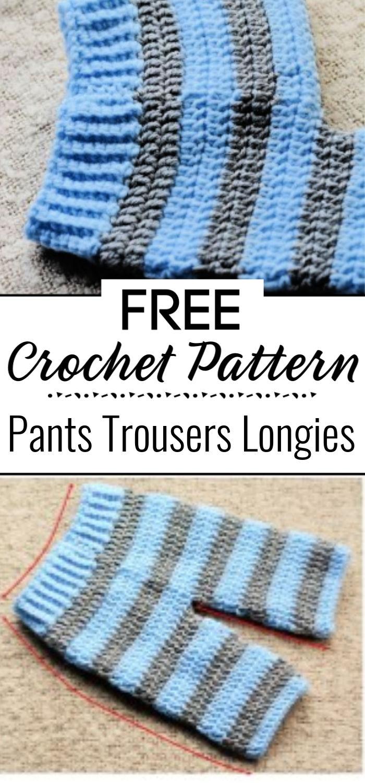 Crochet Baby Pants Trousers Free Pattern