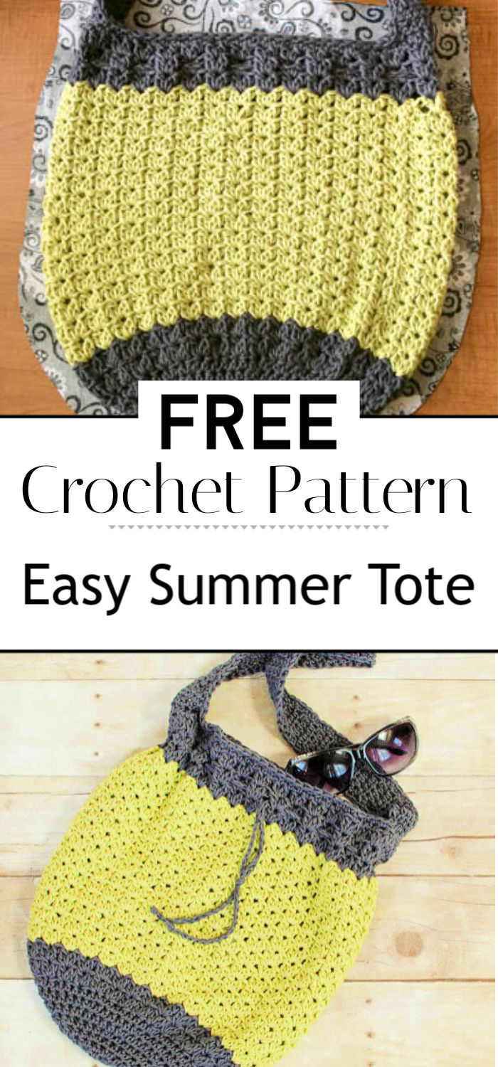 Crochet Bag Pattern Easy Summer Tote