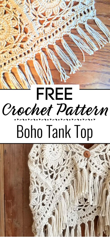 Crochet Boho Tank Top