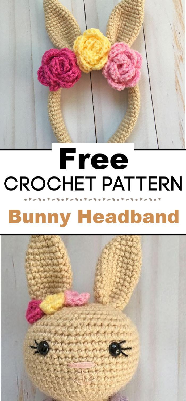 Crochet Bunny Headband A Free Pattern