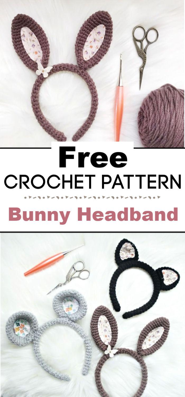 Crochet Bunny Headband Pattern