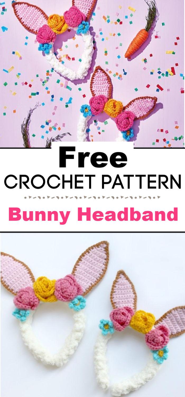 Crochet Bunny Headband