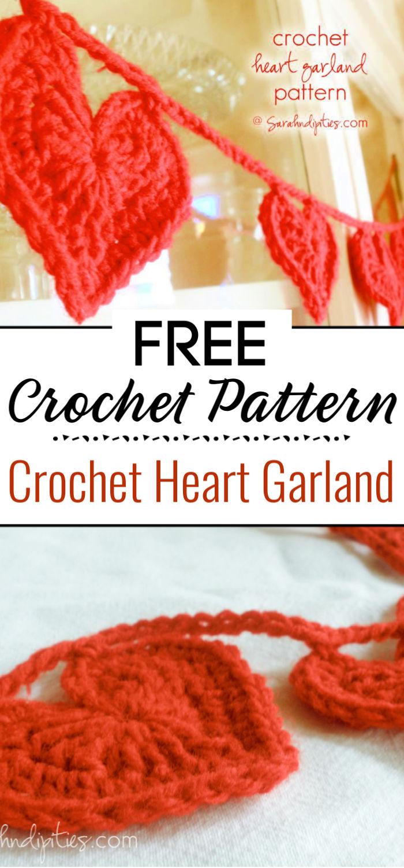 Crochet Heart Garland Pattern