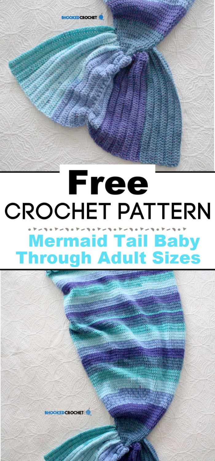 Crochet Mermaid Tail Baby Through Adult Sizes