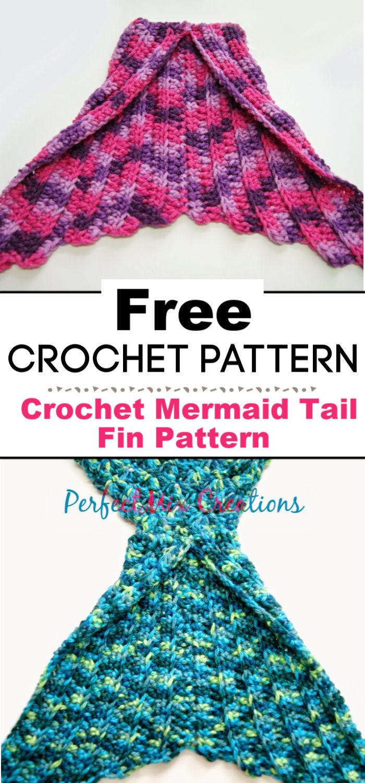 Crochet Mermaid Tail Fin Pattern