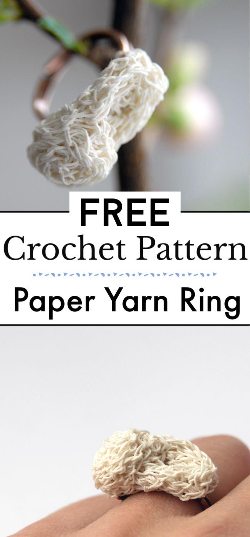 Crochet Paper Yarn Ring