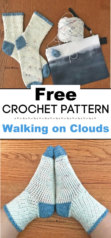 Crochet Socks Pattern Walking on Clouds