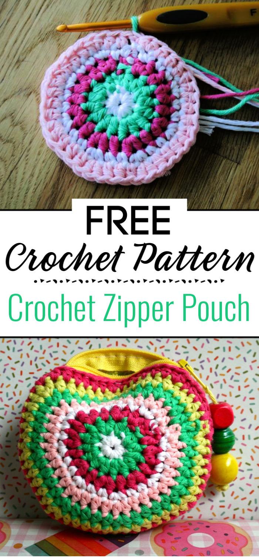 Crochet Zipper Pouch Pattern 1
