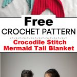 Crocodile Stitch Mermaid Tail Blanket