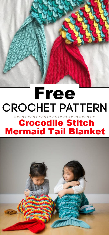 Crocodile Stitch Mermaid Tail Blanket