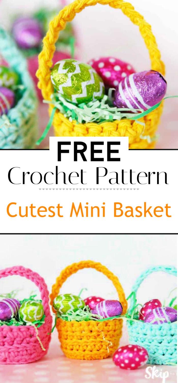 Cutest Mini Crochet Basket Pattern