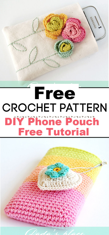 DIY Phone Pouch Free Tutorial