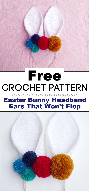 Easter Bunny Headband Crochet Ears That Wont Flop