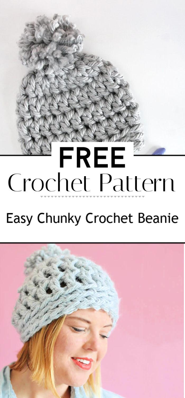 Easy Chunky Crochet Beanie