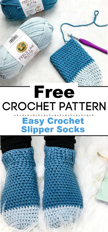 Easy Crochet Slipper Socks Free Pattern By Left In Knots