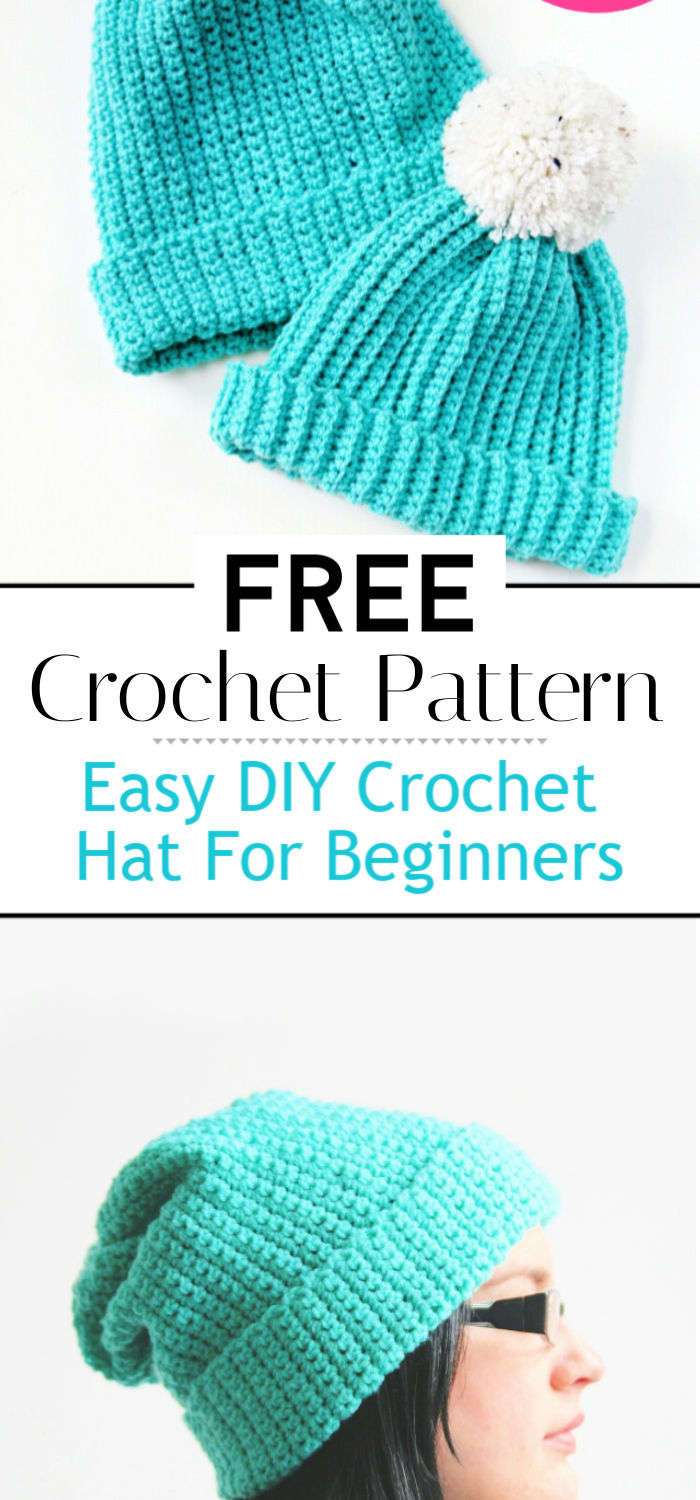 Easy DIY Crochet Hat Pattern For Beginners