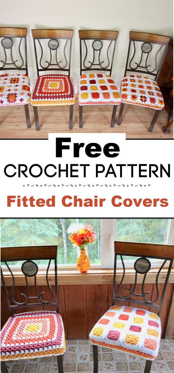Fitted Chair Covers Free Crochet Pattern