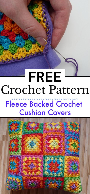 Fleece Backed Crochet Cushion Covers