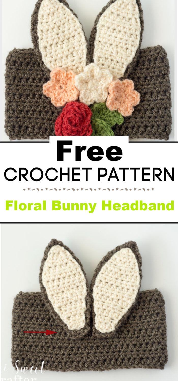 Floral Bunny Headband