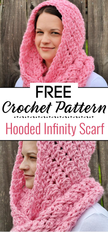 Free Crochet Hooded Infinity Scarf Pattern