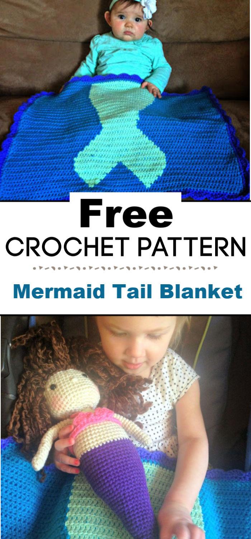 Free Crochet Mermaid Tail Blanket Pattern