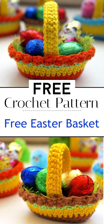 Free Crochet Pattern Easter Basket
