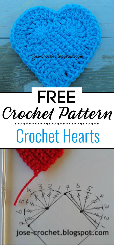 Free Crochet Pattern Heart