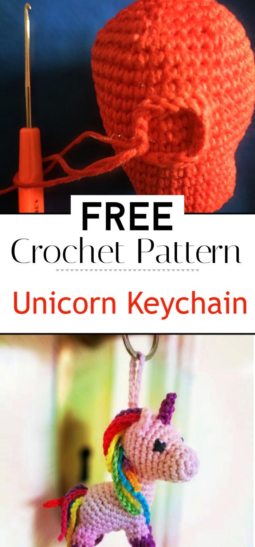 Free Crochet Pattern Unicorn Keychain