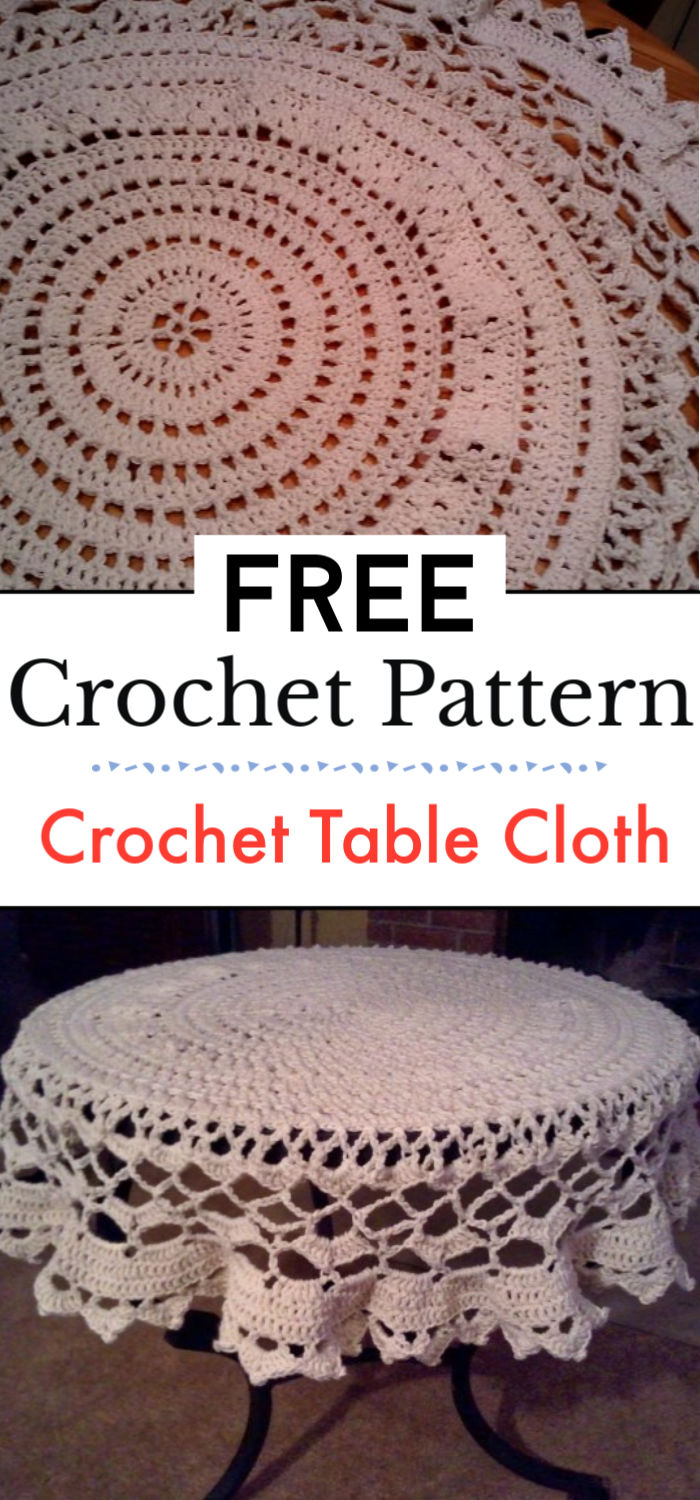 Free Crochet Table Cloth Pattern