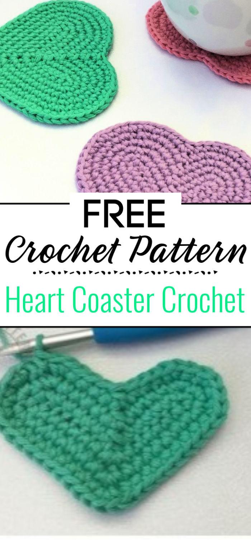 Frere Heart Coaster Crochet Pattern