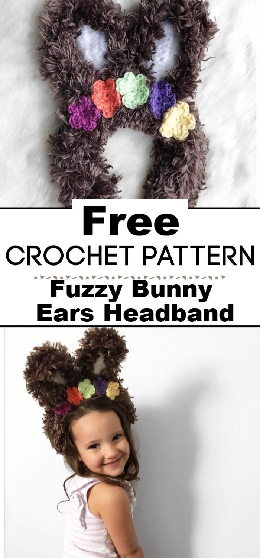 Fuzzy Bunny Ears Headband