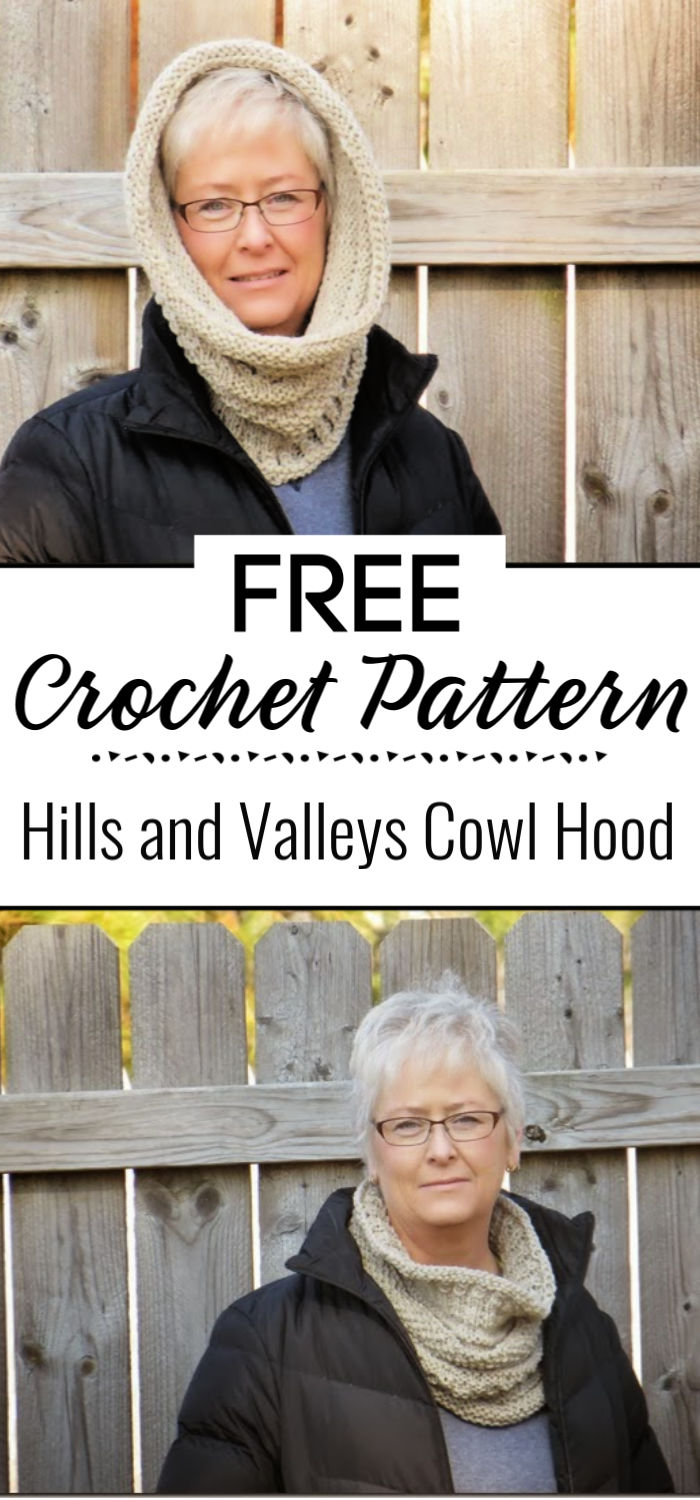Hills and Valleys Cowl Hood Free Pattern