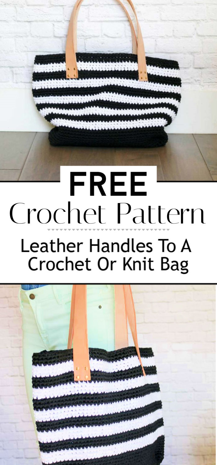 How To Add Leather Handles To A Crochet Or Knit Bag