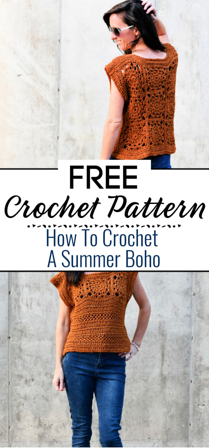 How To Crochet A Summer Boho Top Free Pattern