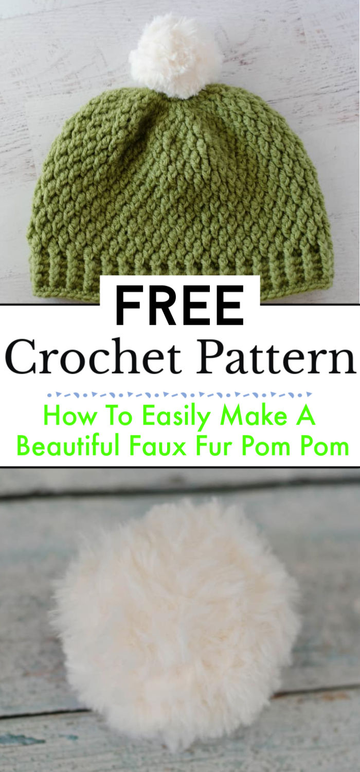 How To Easily Make A Beautiful Faux Fur Pom Pom