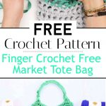 How To Finger Crochet Free Market Tote Bag Pattern