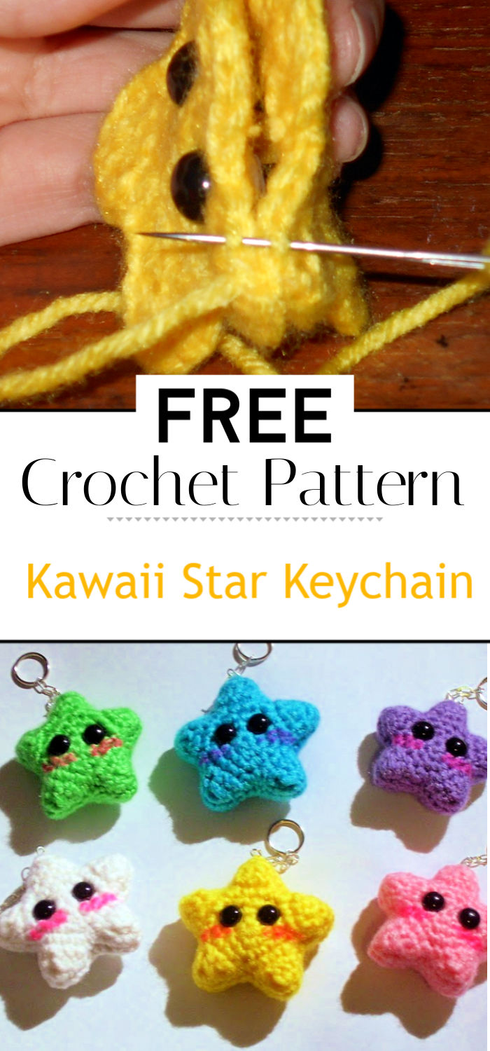 Kawaii Star Keychain Pattern