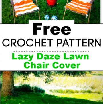 Lazy Daze Lawn Chair Cover Free Crochet Pattern