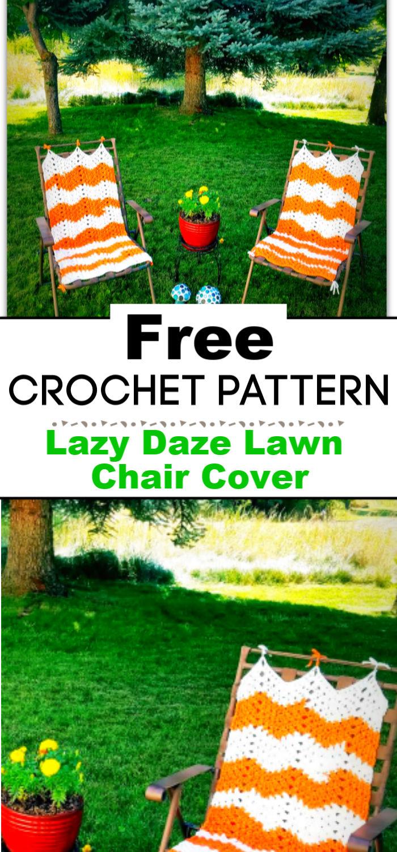 Lazy Daze Lawn Chair Cover Free Crochet Pattern