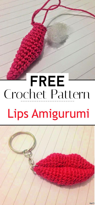 Lips Amigurumi Free Pattern