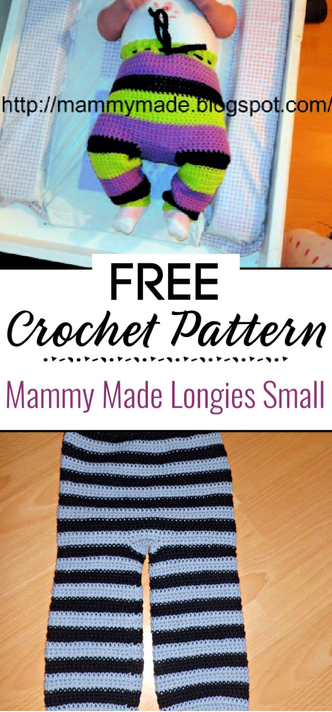 Mammy Made Crochet Longies Small