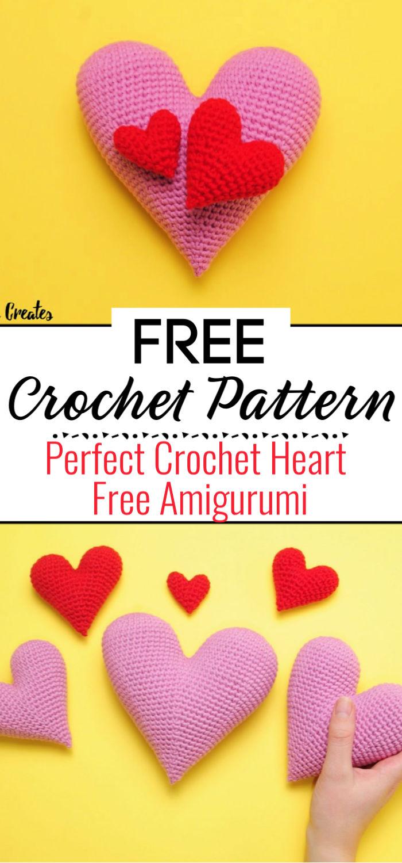 Perfect Crochet Heart Free Amigurumi Pattern