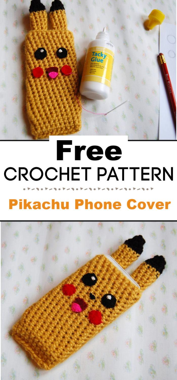Pikachu Phone Cover Free Crochet Pattern