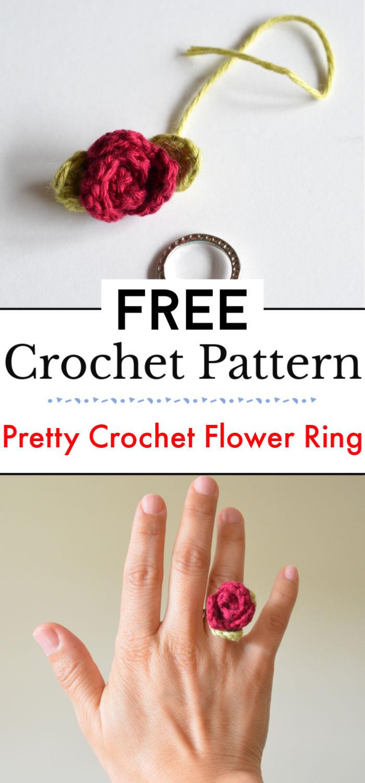 Pretty Crochet Flower Ring