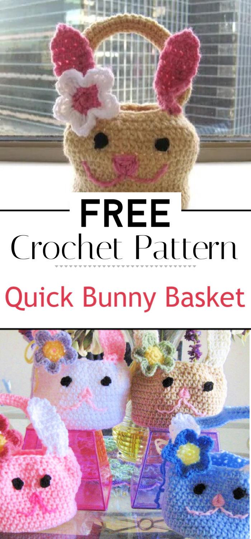Quick Bunny Basket Crochet Pattern Free Pattern