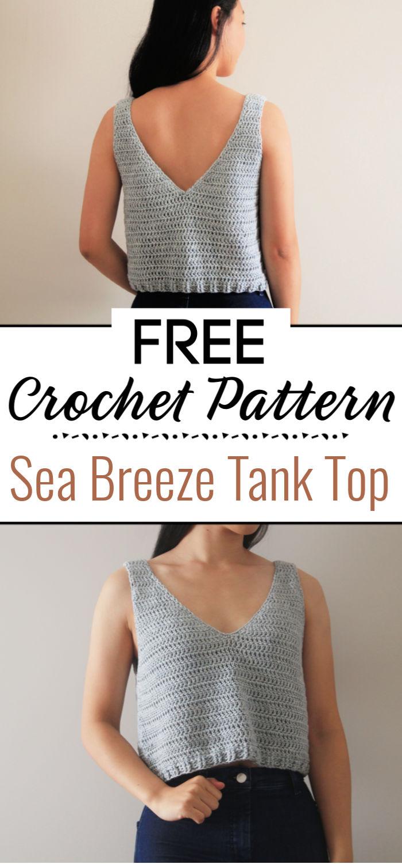 Sea Breeze Tank Top Free Crochet Pattern Video Tutorial